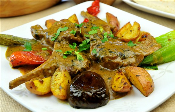 Lamb with Mustard Sauce - Taste of Tunisia