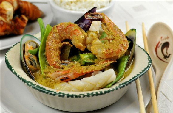 mixed seafood curry seafood curry seafood in thai curry sauce at in a ...