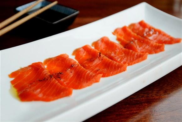 Salmon, Olive Oil Sashimi - Omi Sushi