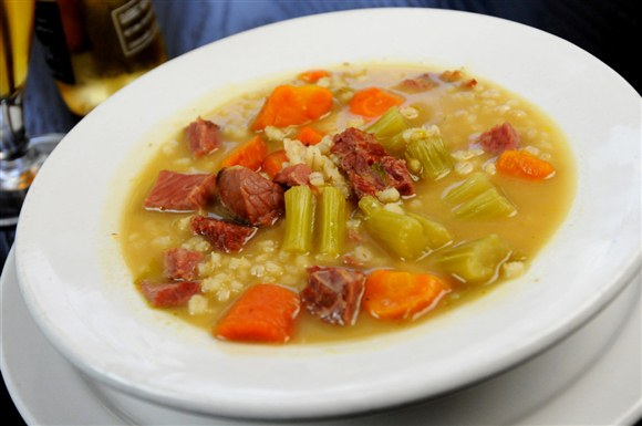 Beef Barley Soup - Corned Beef House