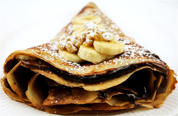 Chocolate Banana Crepes - Sandwiched (CLOSED)
