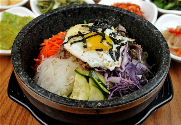 Hot Stone Pot Bibimbap with Bul Go Gi Beef - Seor Ak San