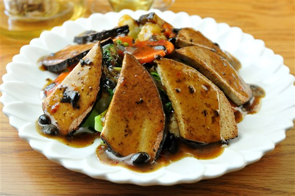 Veggie Fish with Black Bean Sauce - King's Cafe