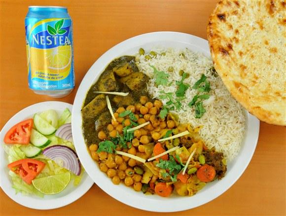 Veggie, Rice & Naan Combo - Mehran Restaurant