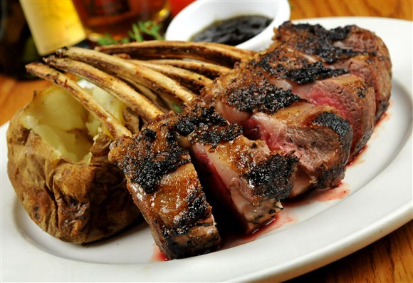 Grilled Rack of Lamb - Barberian's Steakhouse