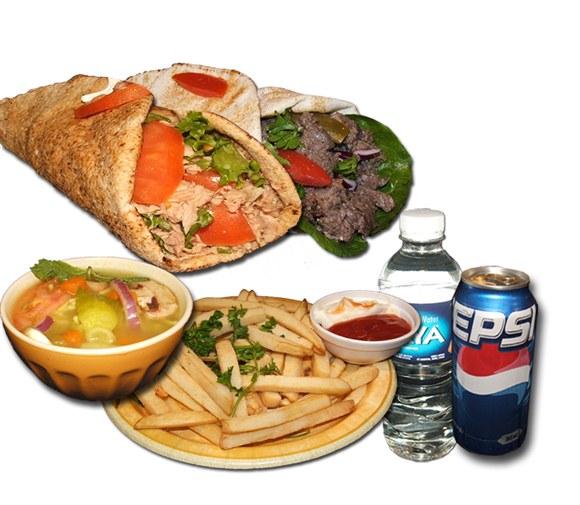 1 Shawarma and 1 Tuna Combo - Wrap and Grab