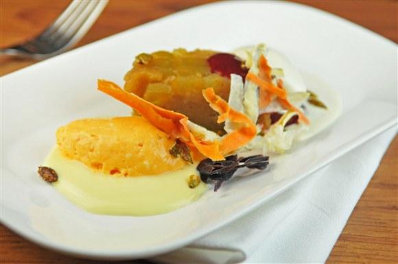 Steamed Pear & Apple Olive Oil Cake - The Harbord Room