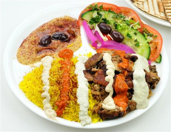 Chicken Shawarma Plate - Oaza Shawarma