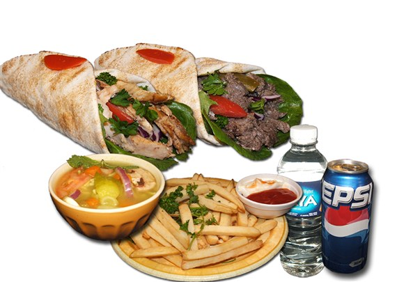 2 Shawarma Combo - Wrap and Grab