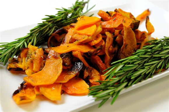 Roasted Butternut Squash with Rosemary - Pimenton