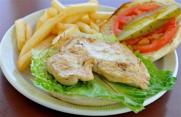 Chicken on a Kaiser - The Prime Burger