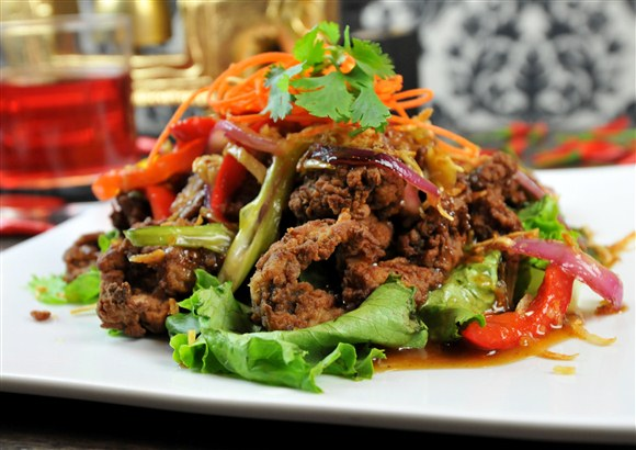 Beef Salad (Nuer Num Tok) - Sit in Bangkok