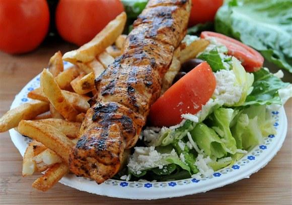 Chicken Souvlaki Dinner - The Burger Shack