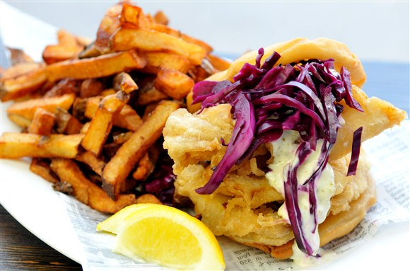 Double Dunk Sandwich - Chippy's Fish & Chips