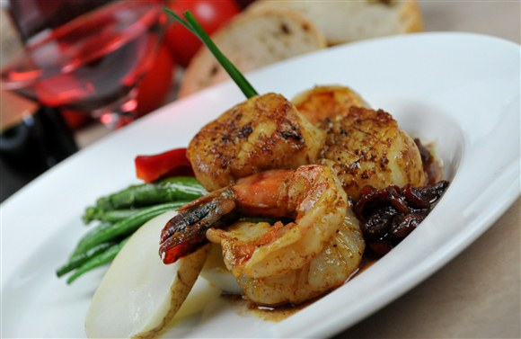 Jumbo Tiger Shrimp & East Coast Scallops - Brownes Bistro