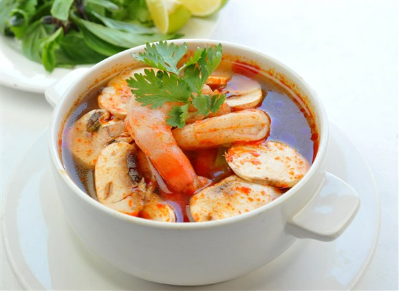Hot and Sour Shrimp Soup - Salad King