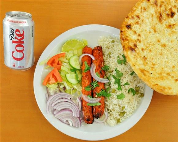 Kebob Rice & Naan Combo - Mehran Restaurant
