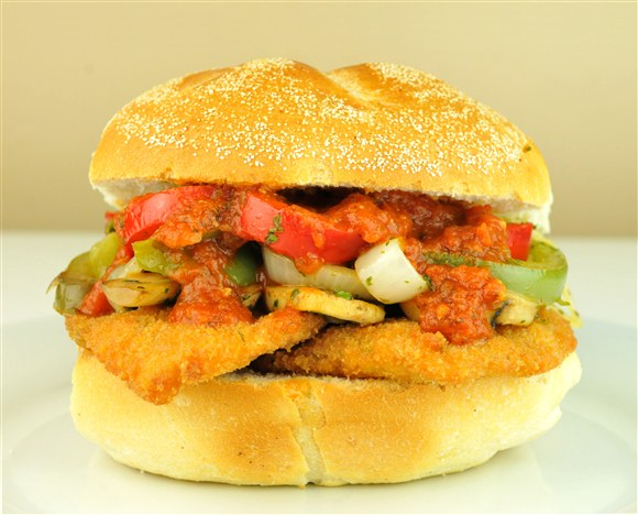 Chicken Cacciatore Sandwich - The Big Slice