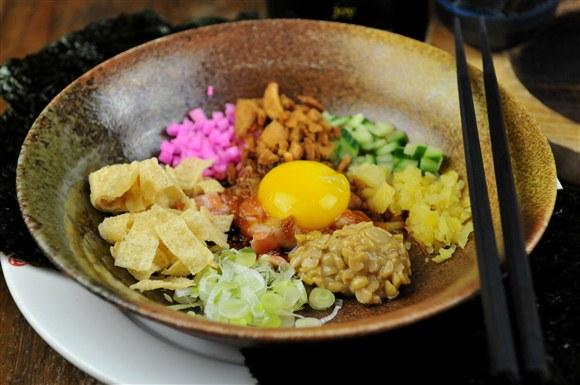 Salmon Natto Yukke - Guu Izakaya