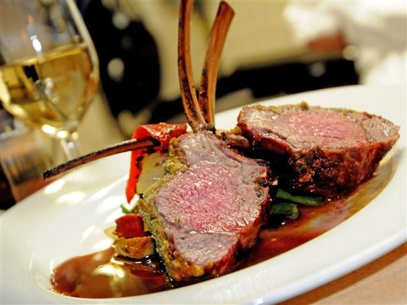 Whole Roasted Australian Rack of Lamb - Corner House Restaurant