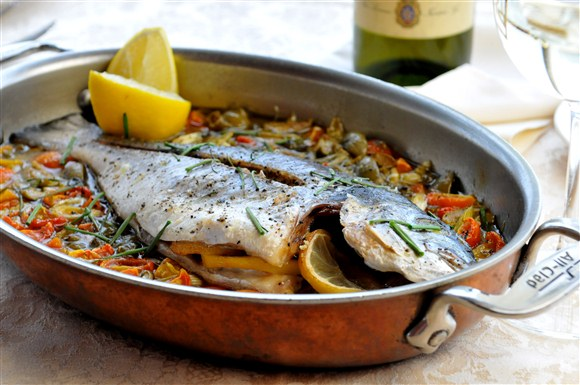Daily Fresh Fish ( Baked Sea Bream) - Market price - Toula