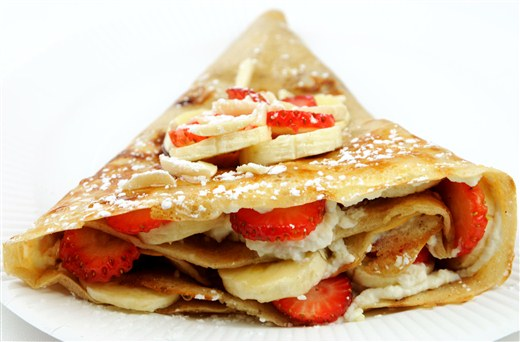 Strawberry Banana Crepes - Sandwiched (CLOSED)