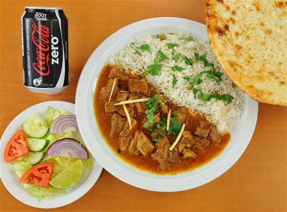Lamb, Rice & Naan Combo - Mehran Restaurant