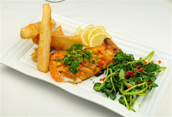 Fresh Grilled Fish (market price) - The Boulevard Cafe