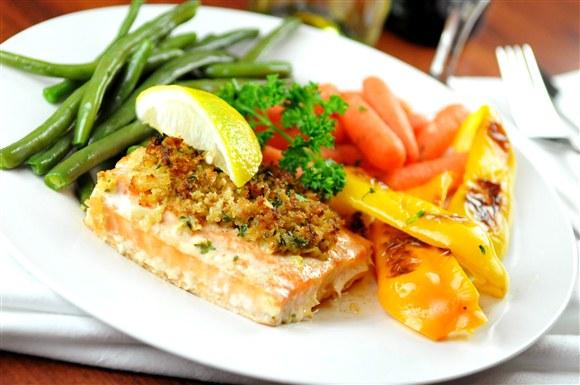 Baked atlantic salmon for Maria s italian kitchen menu