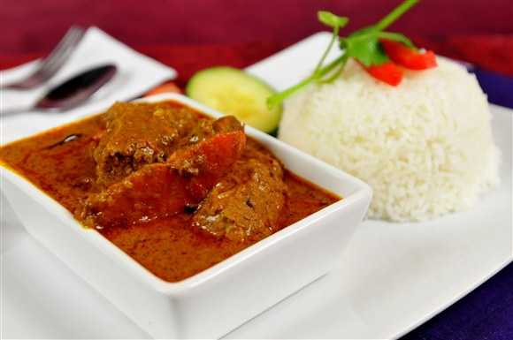 Curry Beef with Rice - Gourmet Malaysia