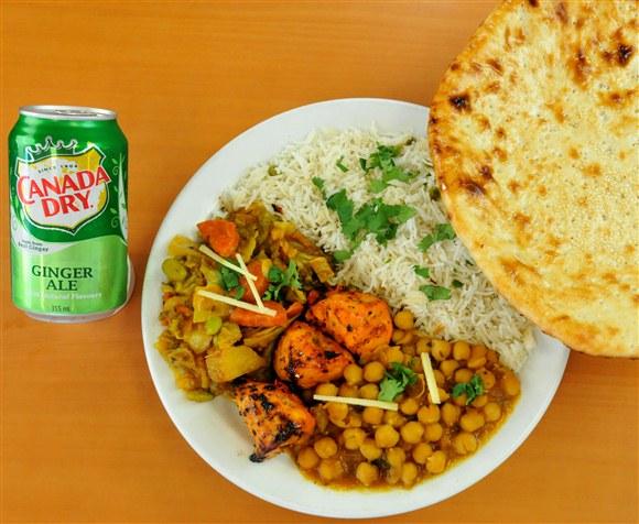 Chicken, Veggie, Rice & Naan Combo - Mehran Restaurant