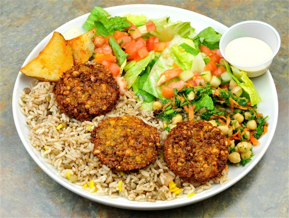 Falafel Plate - Marwan Shawarma