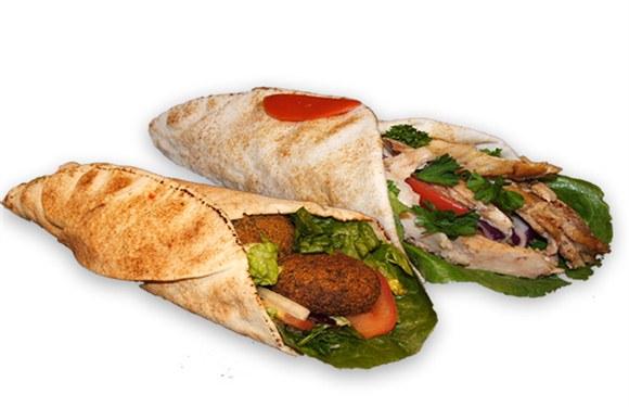 1 Falafel and Shawarma Sandwich - Wrap and Grab