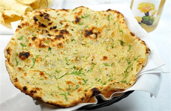 Garlic naan for Aroma fine indian cuisine