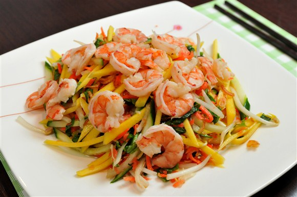 Green Mango Salad with Shrimp - Kim Bo Restaurant (CLOSED)