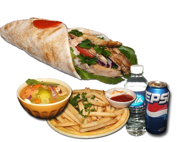 Chicken Shawarma Sandwich Combo - Wrap and Grab