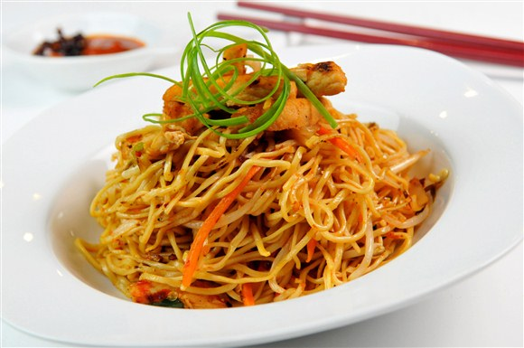Spicy Chicken Noodles - Steamy's Asian Tapas & Grill (CLOSED)