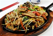 Yakisoba Cooked on an Iron Plate