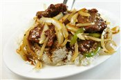 Beef Steak with Black Pepper Sauce on Rice - Lunch & Late Night Menu