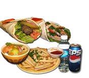 1 Shawarma and 1 Kabab Combo