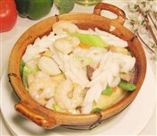 Mixed Seafood with Tofu in Hot Pot