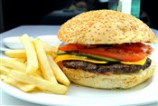 Special Home Burger with Fries