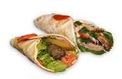 1 Kabab and 1 Shawarma Sandwich