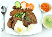 Steamed Rice w/ Grilled Pork Chop, Grilled Chicken & Fried Egg   $6.00