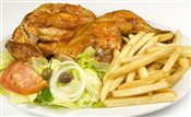 Half Chicken with Fries and Salad   $na