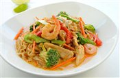 Thai Islamic Noodles   $Veggie Only: 9.00,   Chicken: 10.00,   Shrimp & Chicken: 10.50,