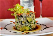Fresh Atlantic King Crab and Ripe Avocado Tower