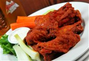 Chicken Wings tossed with Buffalo Butter Sauce