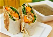 Roasted Free Range Chicken Wrap with Mushroom Soup Combo