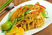 Thai Rice Noodle Chicken (Phad Thai)